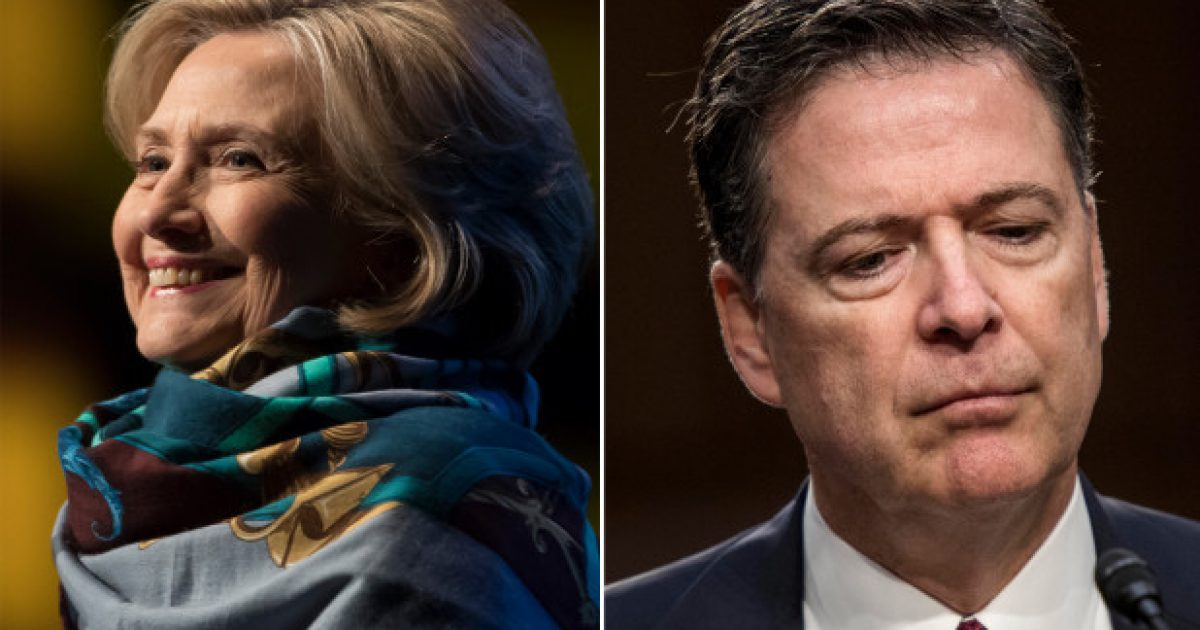 "Photo of After Being Caught Red-Handed, Comey Fires Back at Hillary: ""even at this late date she doesn't understand what the investigation in her case was about"""