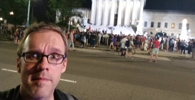 Photo of Just 300 Show Up For Protest Against Trump's Supreme Court Nominee