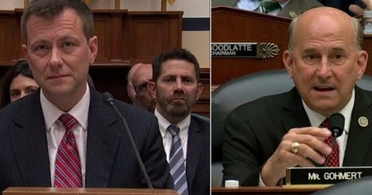 """Gohmert Asks Strzok, """"How Many Times Did You Look Into Your Wife's Eyes"""" & Lie About Lisa Page? – Democrats Lose Their Minds"""
