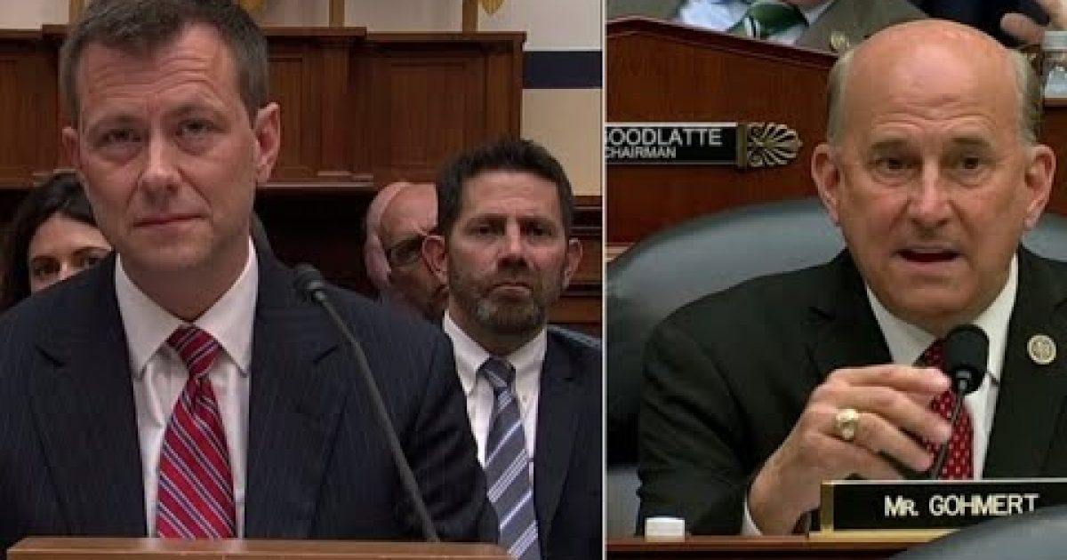 "Photo of Gohmert Asks Strzok, ""How Many Times Did You Look Into Your Wife's Eyes"" & Lie About Lisa Page? – Democrats Lose Their Minds"