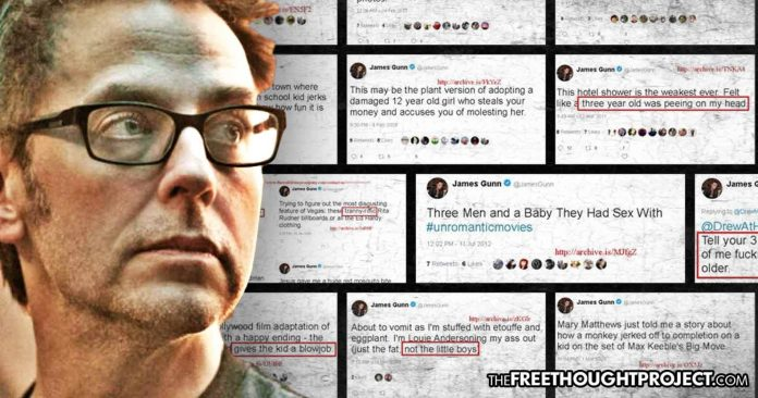 Photo of After Condemning Roseanne's Racism, Media Defends James Gunn's 'Jokes' About Raping Children