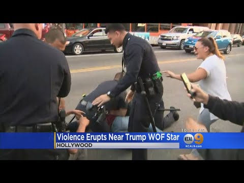 Photo of Violence Erupts for the 2nd Time in 4 Nights at Trump Hollywood Star