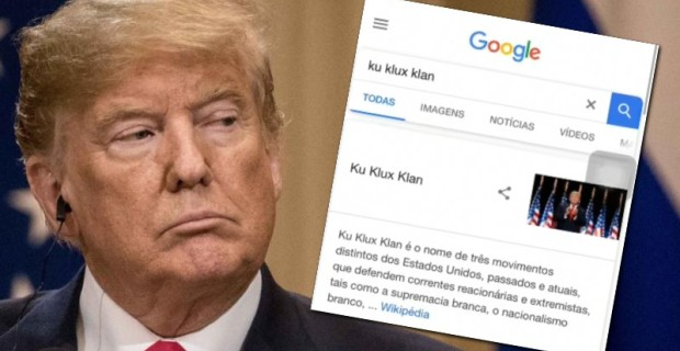 "Photo of Seriously: Google Search For ""Ku Klux Klan"" Brings Up Picture of Trump"