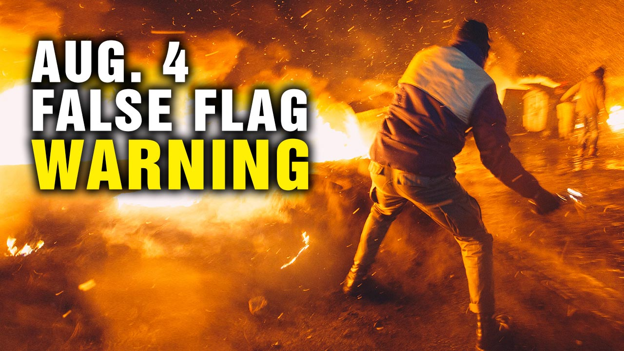 "Photo of August 4 protests FALSE FLAG warning – a ""perfect storm"" for staged deaths to demonize conservative Americans"