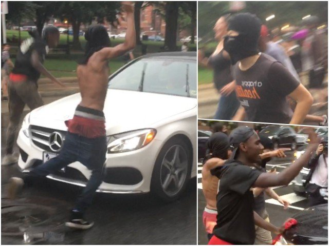 Photo of VIDEOS: Antifa, BLM Rioters Attack Police, Drivers And Random Trump Supporters At #UTR2 In DC