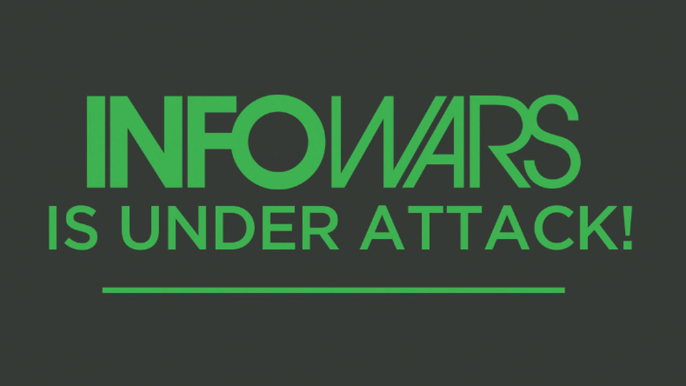 "Photo of InfoWars Taken DOWN! Alex Jones issues red alert: Coordinated ""treason"" attack on America under way right now"