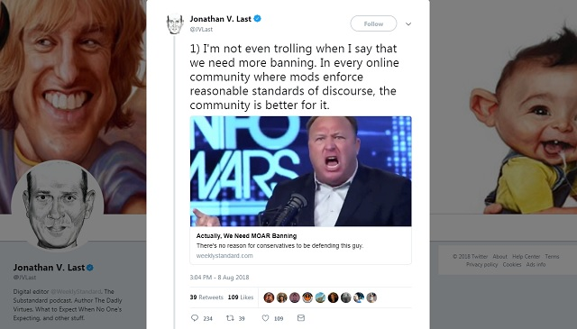 Photo of 'We Need More Banning': Weekly Standard Calls For More Big Tech Censorship In Wake Of Alex Jones Purge