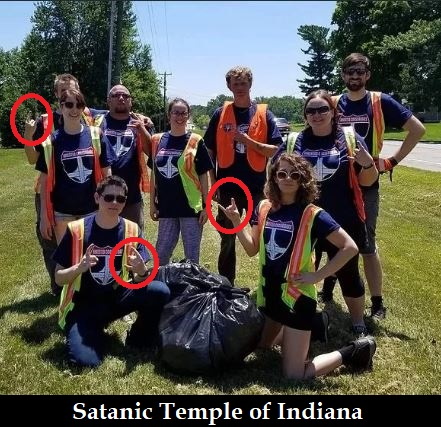 Photo of Normalizing Satanism in America: Demon statue in Arkansas state capitol; satanic highway cleanup in Indiana