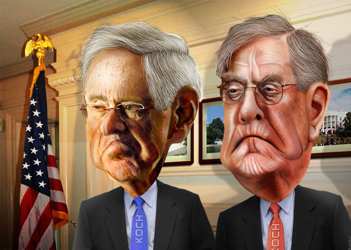 Photo of President Trump: 'The globalist Koch Brothers have become a total joke'
