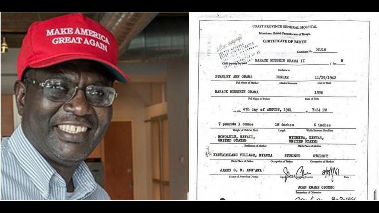 Photo of 2017: Obama's Half-Brother Malik Tweets Obama's KENYAN Birth Certificate