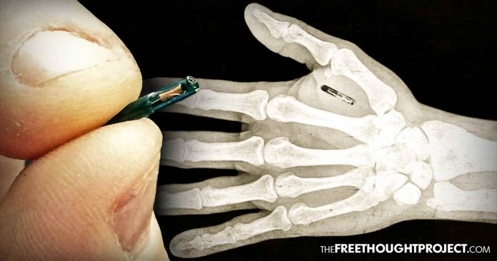 """Photo of Lawmaker Proposes Implanting Microchips in People to Track Non-Violent Offenders Like """"Pets"""""""