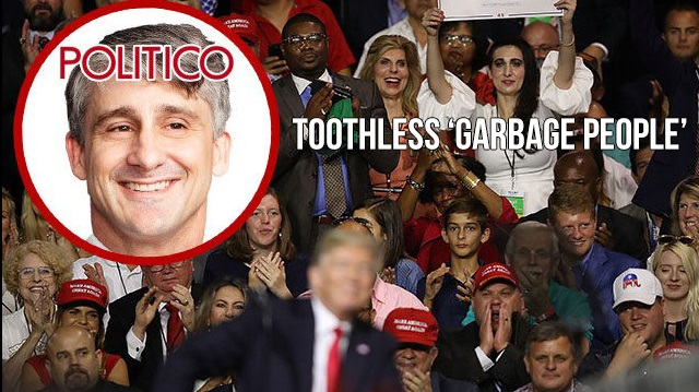Photo of Politico's Marc Caputo: Trump Rally Attendees Are Toothless 'Garbage People'