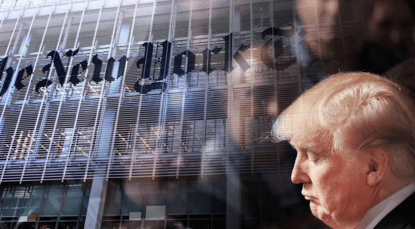 Photo of Trump, the NY Times, and fake news