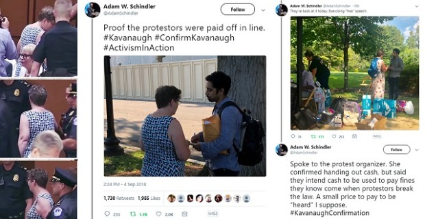 Photo of Man Caught Paying Off Kavanaugh Protesters Works For Soros-Funded Organization