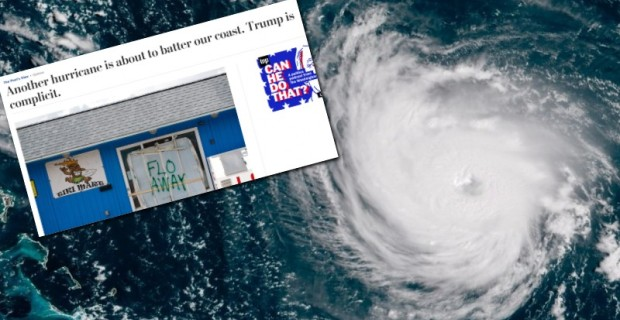"""Photo of """"Trump is Complicit"""" — Washington Post Blames Trump For Hurricane Florence"""