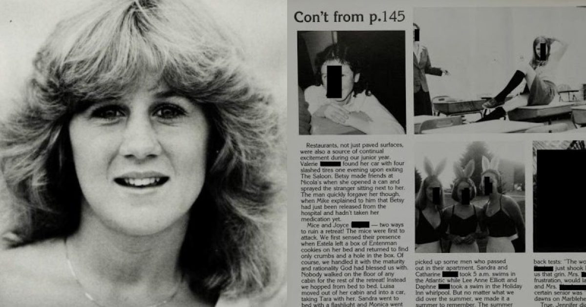 Photo of Christine Ford's School Yearbook Detailing Lewd Student Behavior Leaves Unanswered Questions About Her Kavanaugh Claims