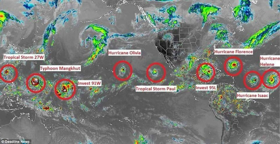 Photo of A Record 7 Named Storms Are Swirling Across The Globe – Has 'The Day After Tomorrow' Arrived?