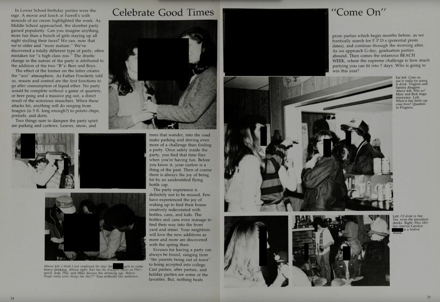 Photo of Kavanaugh accuser Blasey Ford's high school yearbooks scrubbed of info about wild sex parties, drunken blackouts, and more