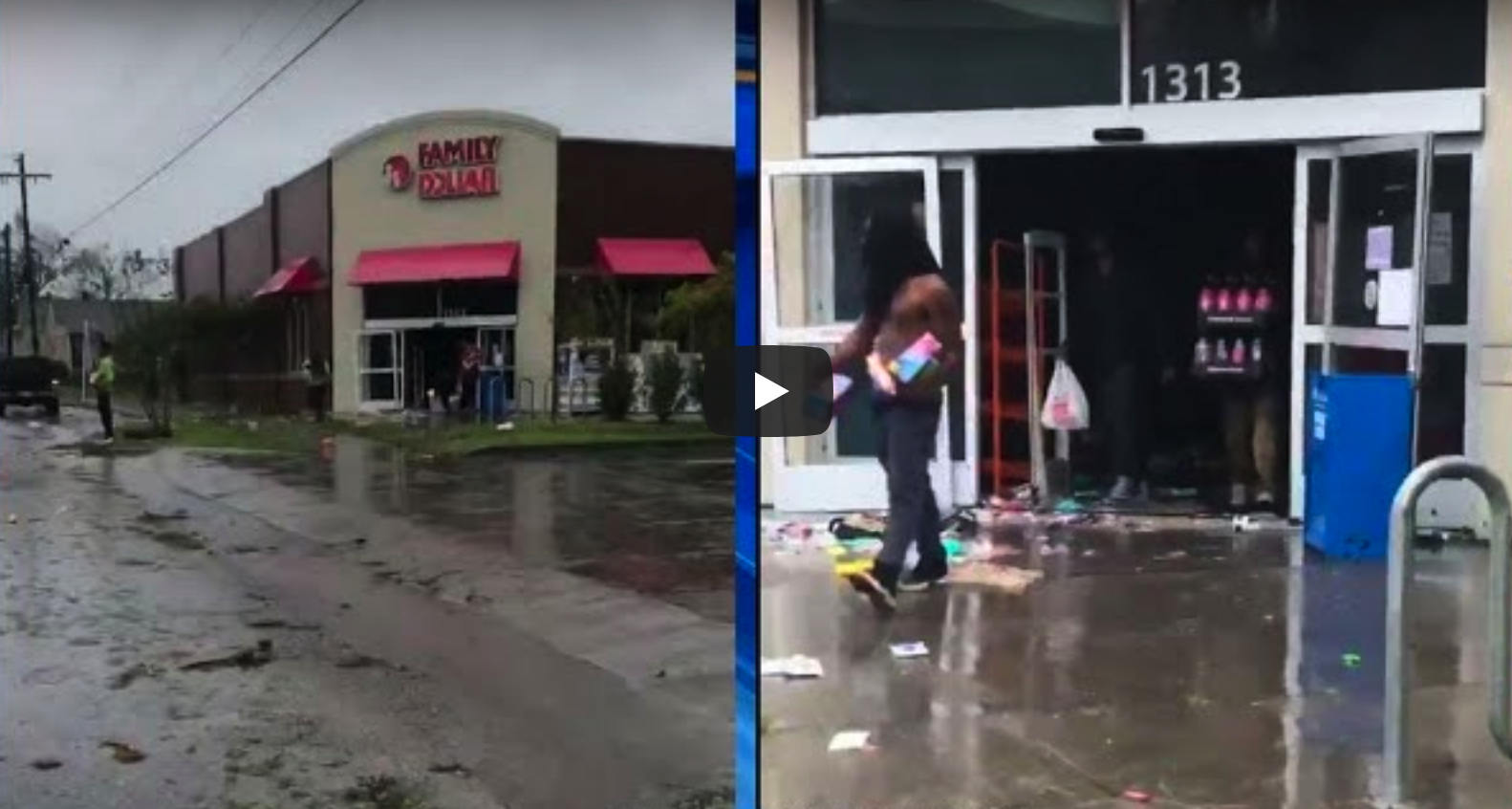 Photo of Raw Video Shows Dozens Of People Looting A Dollar Store As Flooding Cuts Wilmington Off From The Rest Of North Carolina