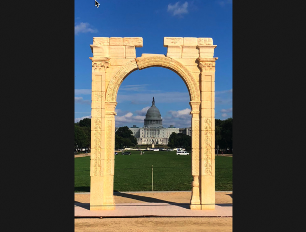 Photo of The Arch Of Baal Was Put Up In Washington D.C. One Day Before Brett Kavanaugh Testified To Congress