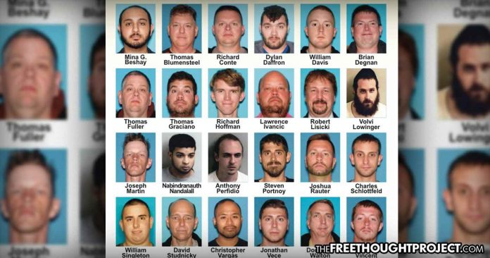 Photo of Top SWAT Cop, Firefighter, Gov't Employees Among Dozens Busted in Child Sex Sting Operation