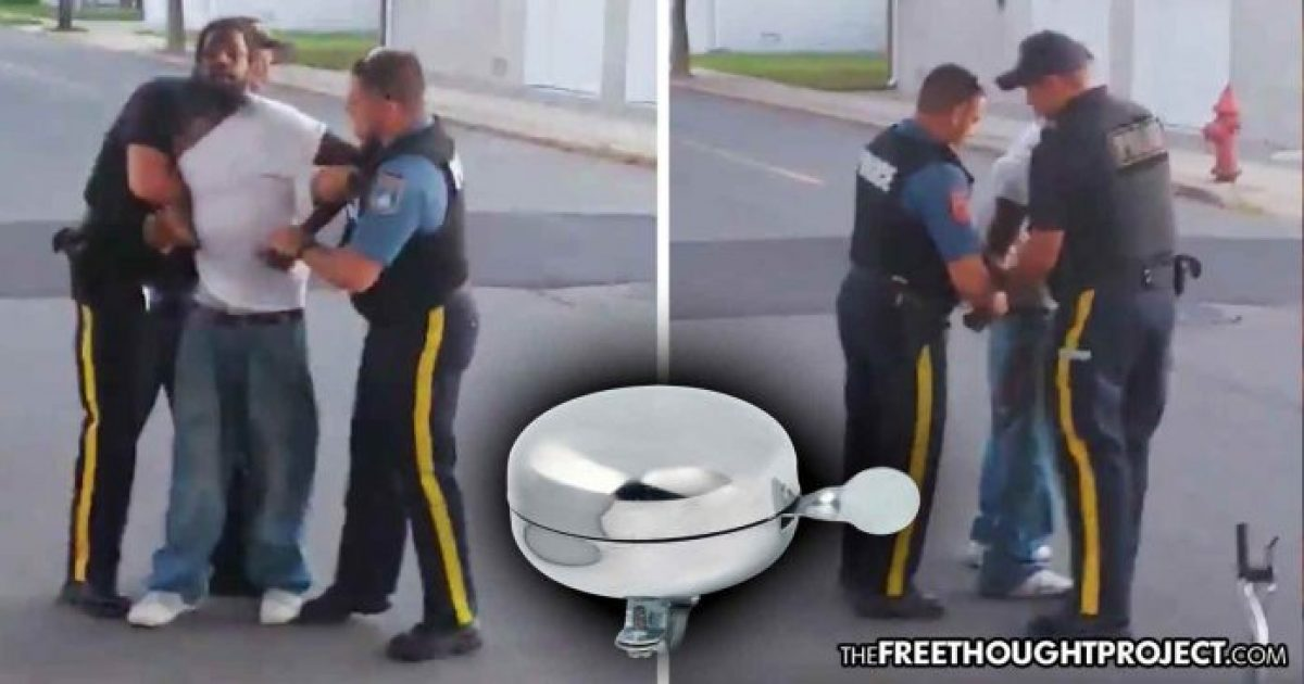 Photo of WATCH: Man Arrested Because Riding a Bike Without a Bell On It Is Illegal
