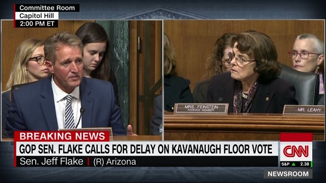 Photo of FLAKE FLAKES: Demands One Week FBI Investigation For Him to Support Final Kavanaugh Vote