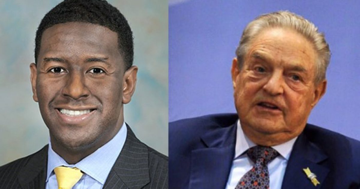 Photo of Florida Democratic Gubernatorial Candidate Andrew Gillum: Thank You George Soros!