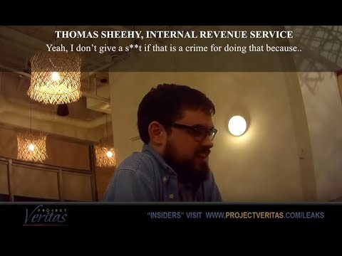 "Photo of Undercover Video – IRS Officials: ""You Should Give Increased Scrutiny"" To Conservative Groups, ""… I Don't Give A S**t If That Is A Crime"""