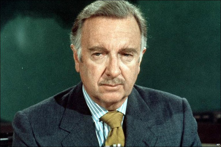 Photo of One-world-government Walter Cronkite: 'I'm glad to sit at the right hand of Satan'