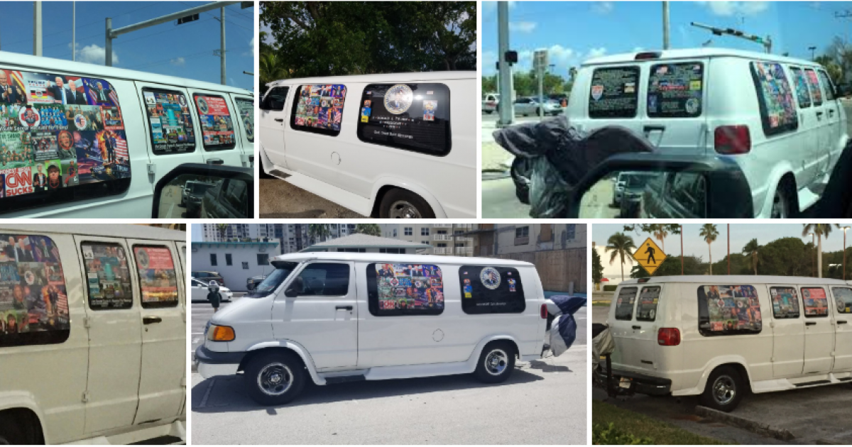 """Photo of Wondered Why All Those Trump Stickers On Fake """"MAGA"""" Bomber's Van Were So Pristine? – Here's Why"""