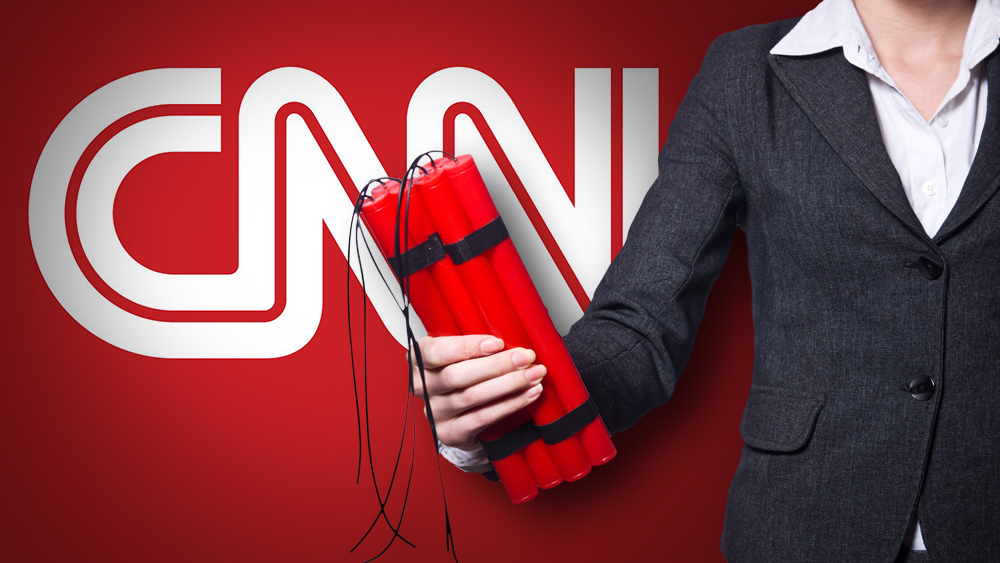 "Photo of Deep state rolls out staged ""bomb"" attack on CNN headquarters, EXACTLY as Mike Adams and Alex Jones publicly predicted"