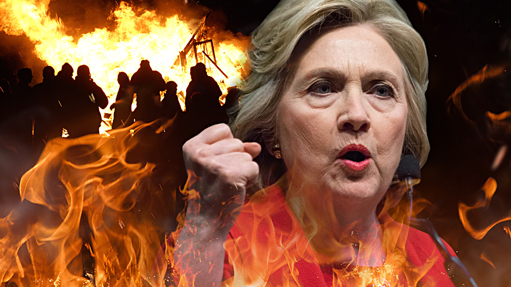 Photo of Hillary commits to mass violence across America if Dems don't win the mid-terms