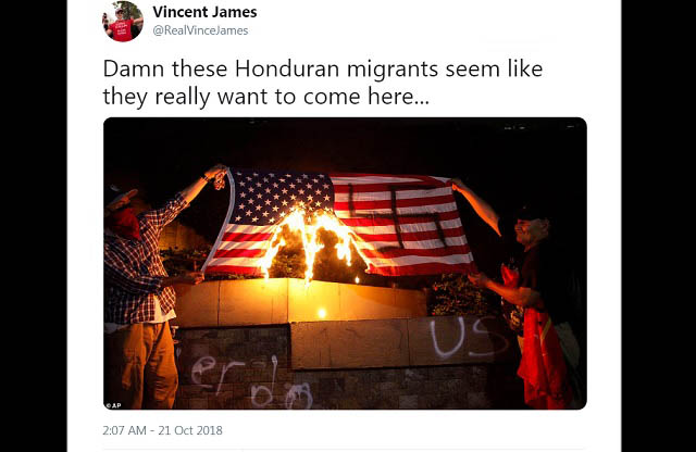 Photo of Hondurans Paint Swastika On American Flag, Set It On Fire; Wave Honduran Flags, Give Us The Finger