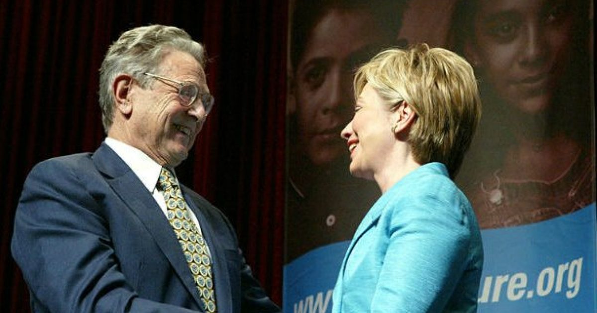 Photo of Flashback: Hillary Clinton: We Need People Like George Soros To Step Up & Get Involved In Our Country
