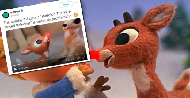 """Photo of Huffington Post Says Rudolph the Red Nose Reindeer is """"Problematic,"""" Internet Laughs in Their Face"""