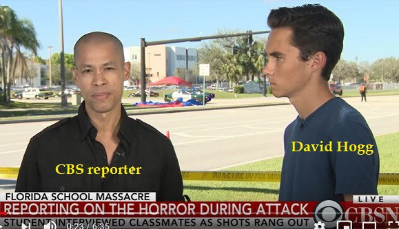 Photo of Parkland anomalies: David Hogg was at home during school shooting; interviewed girl before shooting