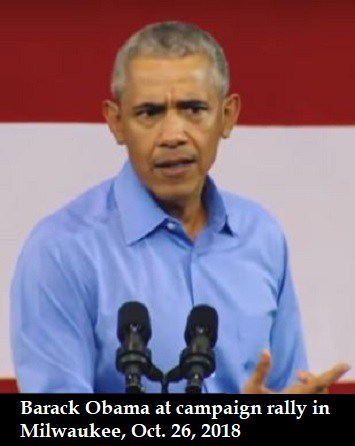 Photo of What happened to Obama? He looked wasted & defeated at Milwaukee rally