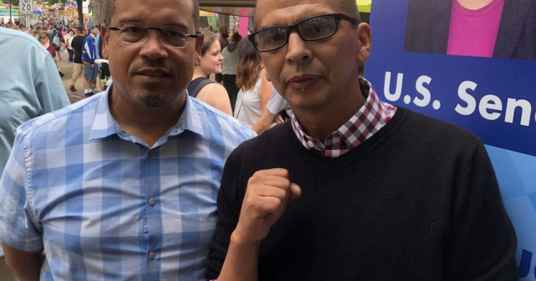 Photo Captures Keith Ellison Hanging Out With Portland ANTIFA Leader Luis Enrique Marquez