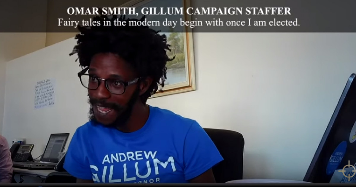 "Photo of Gillum Campaign Staffer: ""Florida is a ****** up Cracker State."""