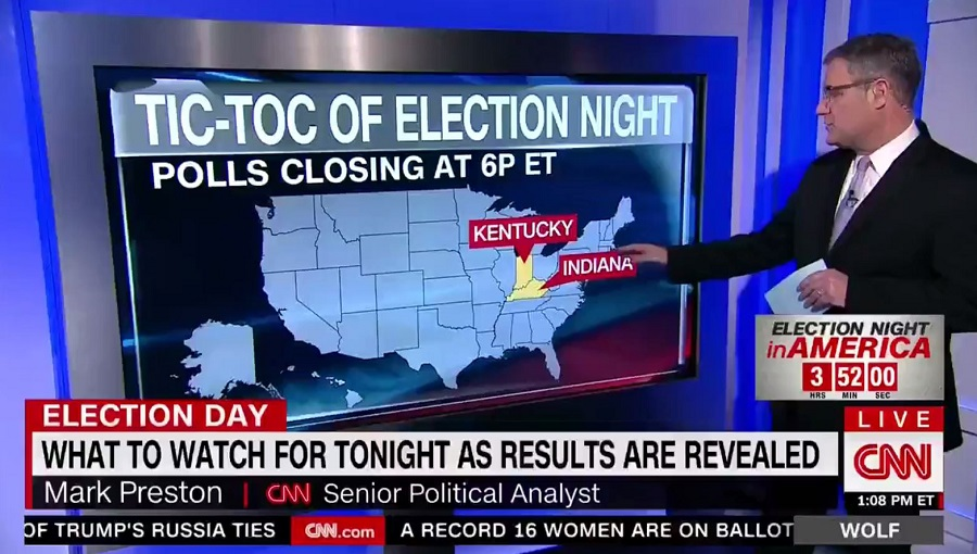Photo of Video: CNN 'elections expert' doesn't know difference between Kentucky, Indiana