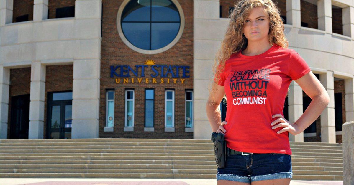 "Photo of ""Gun Girl"" Kaitlin Bennett Wins Round 1 In Lawsuit Against Kent State University"
