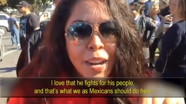 Photo of Mexican Businesswoman at Caravan Protest: 'I Support Trump. I Love that He Is A Nationalist'
