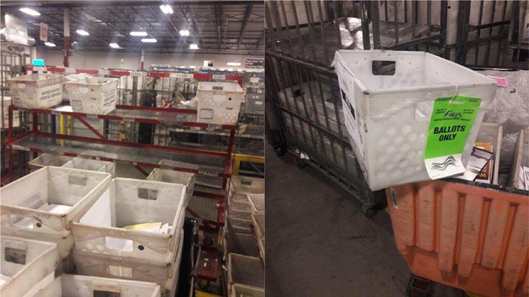 Photo of Opa-locka Postal Facilty that Allegedly holds Uncounted Ballots, is the SAME Facility that Processed Cesar Sayoc's Pipe Bombs