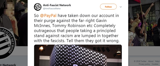 Photo of Antifa Demanded Right-Wingers Be Banned by PayPal, Now They've Been Banned Themselves