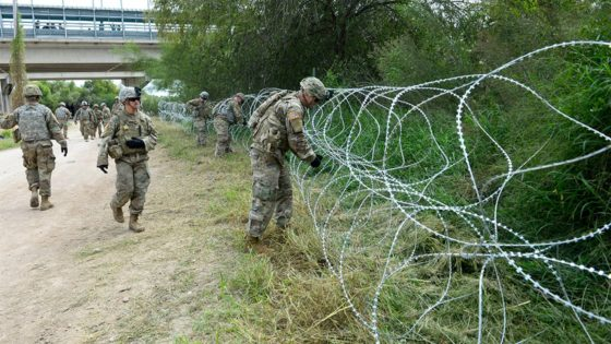 U.S. Troops Spotted Setting Up Barbed Wire Fence Along Southern Border