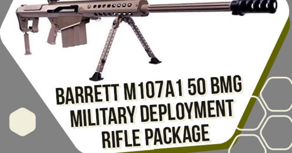 Photo of Gun Dealer Giving Away Super Rare $15,000 Barrett 50 Cal BMG Military Deployment Rifle Package