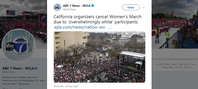 Photo of CA Organizers Cancel Women's March Due to 'Overwhelmingly White' Participants