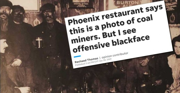 "Photo of Old Photo of Soot-Covered Coal Miners is Racist ""Blackface,"" Says Offended Snowflake"