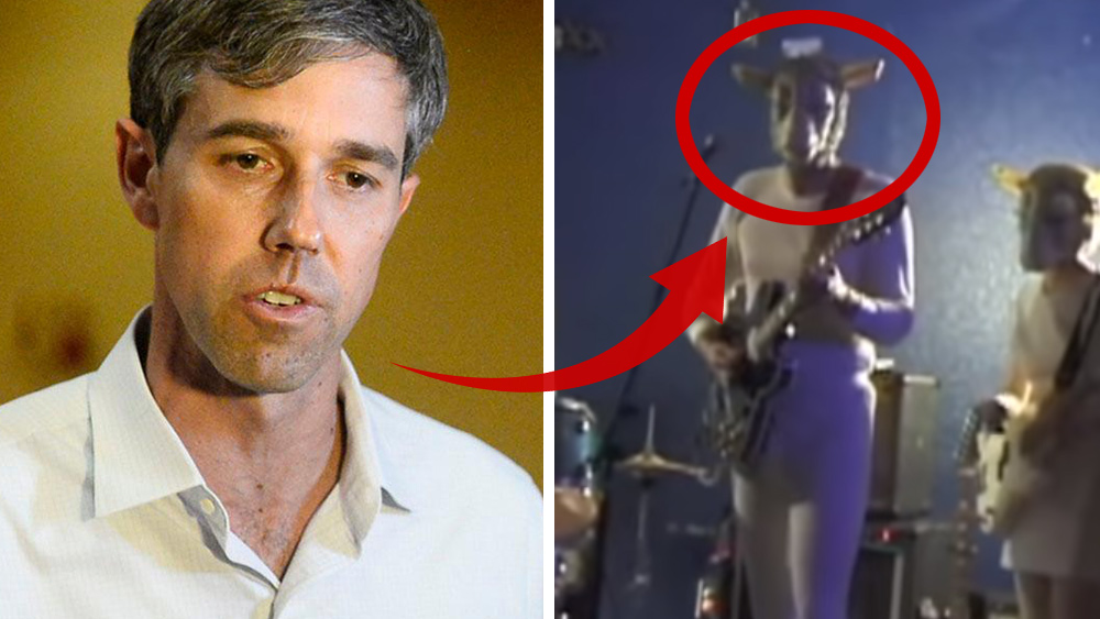 "Photo of Texas Democrat ""Beto"" O'Rourke outed wearing ""Devil goat"" costume; left-wing media tries to spin narrative away from Satanism"